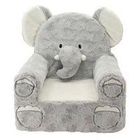 Animal Adventure Sweet Seats Plush Elephant Chair - Gray