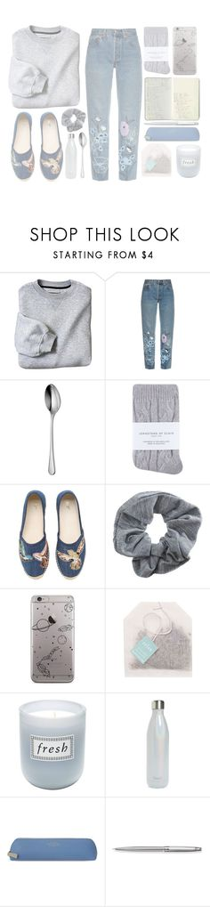 """but in my mind, im on the moon"" by mae-lia ❤ liked on Polyvore featuring Bliss and Mischief, Robert Welch, Johnstons, Moleskine, RED Valentino, Topshop, Fresh, S'well, Smythson and Caran D'Ache"