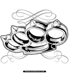 Brass Knuckle Vector More Drawing Design Tattoos Tattoo