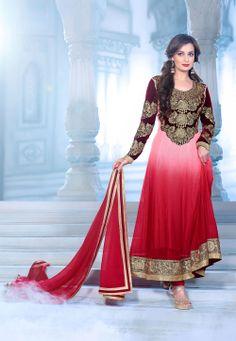 #Red #Velvet #Anarkali