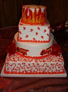 Firefighter Wedding Cake   Shared By LION