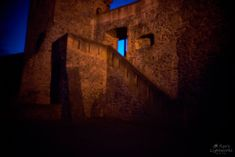Genuine ghost shot done with a pinhole... It was at the end of blue hour at Burg Frankenstein and the castle was lit by this orange light. Using Sony A7II with 1600 ISO at 0.2mm pinhole the exposure was 25 seconds. What you do to create a ghost effect is set up the camera, hit the release, count to 5 and walk to the spot you want to show up and stand still there for the remaining exposure time. In this shot I was standing there for about 15 of the 25 seconds of exposure. By Dennis Ryu Bär