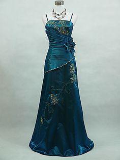 Cherlone Plus Size Blue Ballgown Bridesmaid Formal Wedding/Evening Dress 18-20