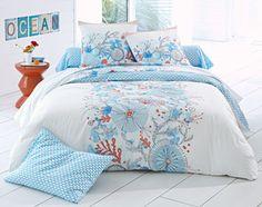 linge de lit flore sous-marine - Becquet