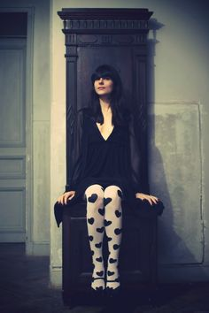 vampire-3 American Apparel, Tartan, Style Preppy, Cherry Blossom Girl, Cute Tights, Bcbg, Victoria, Coat, Socks
