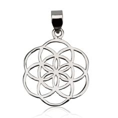 """Classic Seed of Life Pendant Sterling Silver 925 Size 1"""" Sacred Geometry #MAGAYA #Pendant"""