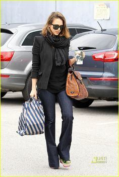 90850c201f Jessica Alba s wardrobe (including fabulous scarf collection). Please be in  my closet when