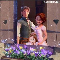 Rapunzel, Eugene and their daughter Oh my gosh I love this so much!