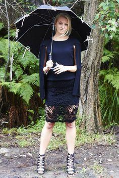 Oasis Black Lace Skirt $35   Fashion, sale, clothing, boutique, online boutique, model, fashion blogger