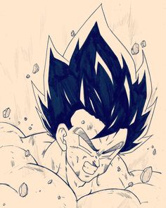 Goku False SSJ Thor Drawing, Goku Drawing, Ball Drawing, Drawing Art, Drawing Sketches, Dbz Drawings, Pencil Drawings, Dragon Ball Z, Dragon Images