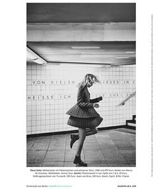 Christoph Köstlin - meet & tweet // 08 // Berlin // fashion editorial // white dress // duo // fashion model // blackwhite // dancer // subway // subway station
