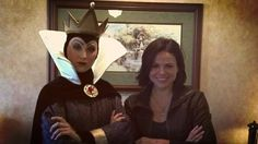 Lana Parrilla meets the original evil queen