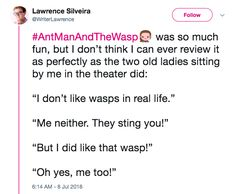 """""""Ant-Man and the Wasp gave me lots of giggles and happiness, and then stomped on my feelings."""" Warning: Contains spoilers!"""
