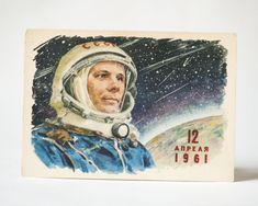 very rare Soviet postcard printed 1964 Valentina Tereshkova the first woman in space postcard for International Women/'s Day collectible