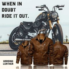 Modern styles for the rugged man. Shop now at Harding Leather! Rugged Men, Leather Jackets, Shop Now, Modern, Shopping, Style, Men, Swag, Trendy Tree