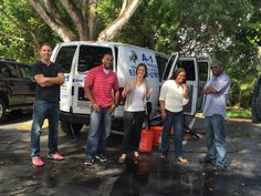 All excited about our free #carwash from our management!