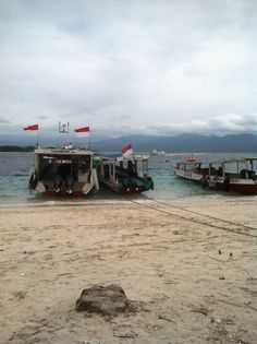Little harbour of Gili Trawangan Lombok