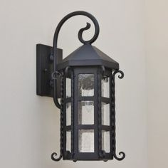 contemporary spanish wrought iron outdoor light fixture lighting
