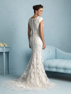 I love it!! Allure modest line. Modest LDS wedding dresses