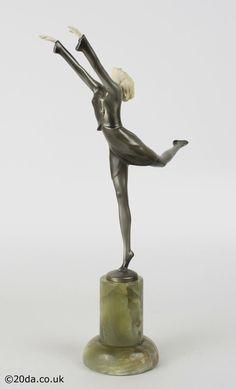 Josef Lorenzl - Art Deco Bronze Ivory figure