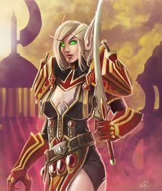 Jade Forest Blood Elf by megillakitty on DeviantArt