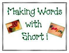 Make a Word with Short i from Smiley Smith on TeachersNotebook.com -  (9 pages)  - Making CVC words with short i! Use these work mats in a word work center.