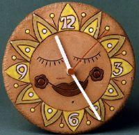 keramické hodiny sluníčko