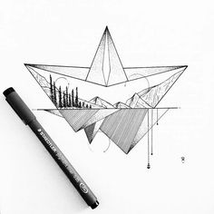 Temporary tattoo, Tattoo artist, Art, Design - Photo by Ink Illustrations, Art Drawings Sketches, Easy Drawings, Sketch Drawing, Doodle Designs, Tattoo Designs, Isak & Even, Minimalist Drawing, Black And White Drawing