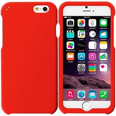 """myLife Red-Orange {Professional, Modern and Stylish} 2 Piece Snap-On Rubberized Protective Faceplate Case for the NEW iPhone 6 Plus (6G) 6th Generation Phone by Apple, 5.5"""" Screen Version """"All Ports Accessible"""" myLife Brand Products http://www.amazon.com/dp/B00UB4W0A8/ref=cm_sw_r_pi_dp_opAhvb1G7Y3EP"""