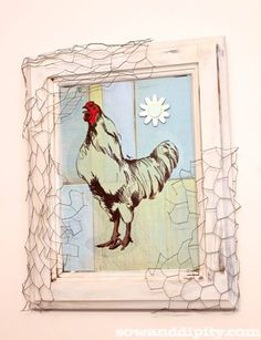 Recycled Rooster Junk Art - Sow & Dipity  http://www.sowanddipity.com/recycled-rooster-junk-art/?utm_source=CraftGossip+Daily+Newsletter_campaign=502f845796-CraftGossip_Daily_Newsletter_medium=email_term=0_db55426a84-502f845796-196060585