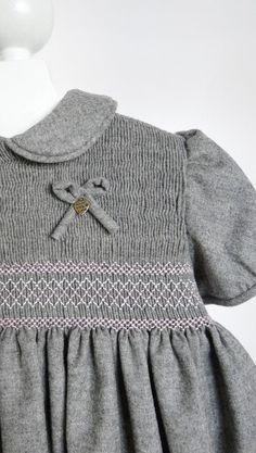 Griselda Smocking Woolen Dress