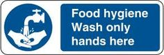 Food hygiene wash only hands here 	£0.99 #signs #mandatory