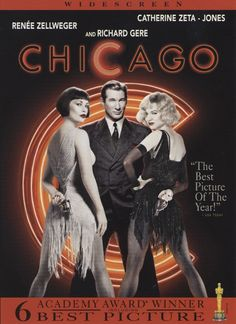 Another multi-Oscar winner (Best Picture, Best Supporting Actress-Catherine Zeta-Jones), Chicago is based on Bob Fosse's Broadway musical of the same name.  Two convicted murderesses (Catherine Zeta-Jones and Renee Zellweger) meet on death row where they concoct a plan with celebrity lawyer Billy Flynn (Richard Gere) to gain the fame that will keep them from the gallows.