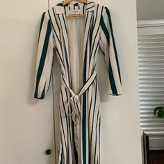 Studio only striped coat, size Worn one Save The Planet, Selling Online, Becca, Second Hand Clothes, Wrap Dress, Coat, Stuff To Buy, Shopping, Dresses