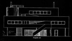 Villa Savoye - Le Corbusier Planos 04 (first sketches)
