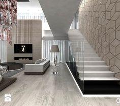 Aranżacje wnętrz - Salon: schody i salon - aranżacje dużego domu - ARTDESIGN architektura wnętrz. Przeglądaj, dodawaj i zapisuj najlepsze zdjęcia, pomysły i inspiracje designerskie. W bazie mamy już prawie milion fotografii! Stair Handrail, My House, Tiles, Stairs, House Design, Flooring, Living Room, Inspiration, Home Decor