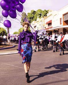 Purple Reign: ru_glamour — LiveJournal Fashion Shoot, Editorial Fashion, Women's Fashion, Marie Claire Australia, Purple Balloons, Latex Balloons, Fashion Corner, Quirky Fashion, Purple Reign
