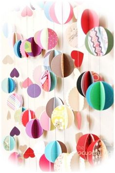 Paper garlands colors - make these for the back door this summer