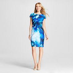 Women's Lasercut Sleeveless Scuba Sheath Dress Ocean - Julia Jordan : Target