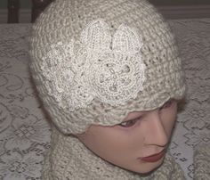 Ladies crochet hat vintage lace and pearls gatsby by divasvintage, $22.00 - FashionFilmsNYC.com