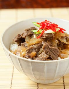 Gyudon (Japanese Beef Bowl): Actually had one of these at the best little Authentic Japanese food joints in santa cruz, CA. Was amazing :)