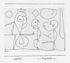 archivepaulklee: Paul Klee, Tanzschule, 1939, 610, Bleistift auf Papier auf Karton, 20,9 x 29,7 cm, Zentrum Paul Klee, Bern, © VBK, Wien, 2008.