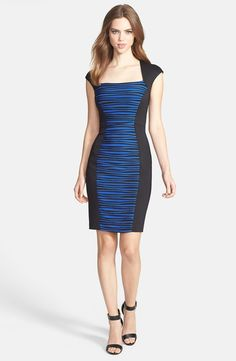 http://www.lyst.com/clothing/jax-cap-sleeve-colorblock-sheath-dress-sapphire-black-1/?product_gallery=44867211