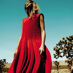 red dress & joshua trees