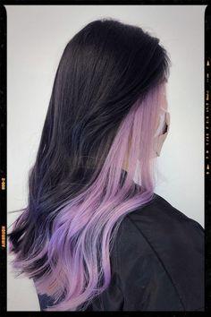 Under Hair Dye, Under Hair Color, Hidden Hair Color, Two Color Hair, Hair Color Streaks, Pretty Hair Color, Hair Dye Colors, Hair Color For Black Hair, Hair Highlights