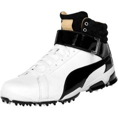 Puma TITANTOUR IGNITE High-Top Men's Golf Shoes ($200) ❤ liked on Polyvore featuring men's fashion, men's shoes, men's sneakers, men's low top sneakers, mens hi top sneakers, mens lightweight running shoes, puma mens sneakers and mens golf shoes