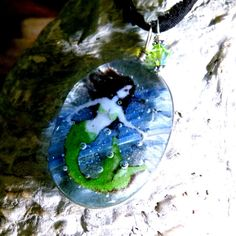 Mermaid in the water  fused glass pendant by ArtoftheMoment, $50.00