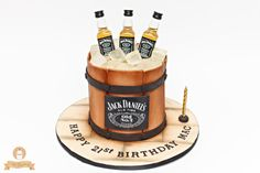 JD Bucket Cake - Cake by The Sweetery - by Diana