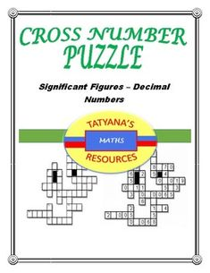 Secondary Resources, Teacher Resources, Color Activities, Math Activities, Teaching Math, Teaching Ideas, The Fun Factory, Decimal Number, Number Puzzles