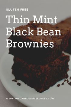 These rich and chocolaty Minty Brownies are Vegan & Gluten Free!